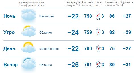 Прогноз погоды в пензе на 28 января к