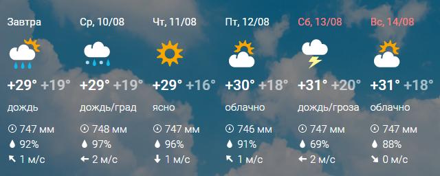 Для получения подробной информации о погоде в пензе (изменение температуры воздуха, ход атмосферного давления, направление и скорость ветра, характер облачности, а так же количество осадков) наведите курсор на график.