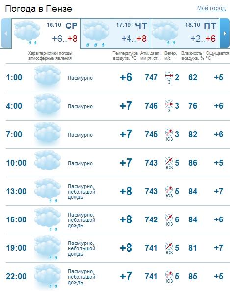 проектно погода в пензе на завтра подробно гисметео Центральная городская