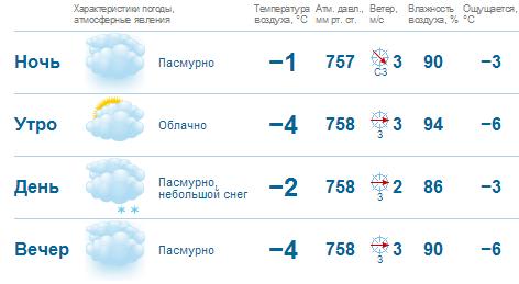 Погода в пензе на 1 января