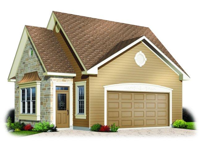 Своими руками дом с гаражом