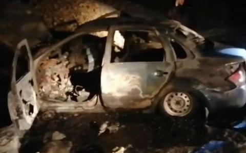 Появилось видео с места, где в Пензенской области сожгли таксиста