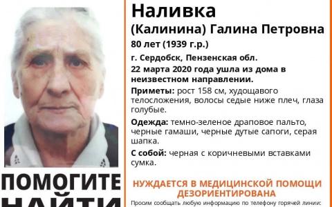 В Пензенской области пропала Галина Наливка