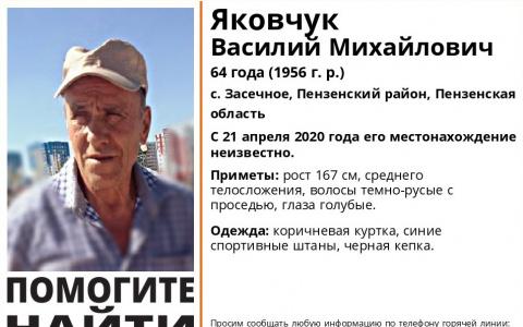 В Пензенской области начались поиски Василия Яковчука