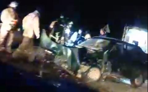 В Пензенской области засняли последствия жуткой аварии. Видео