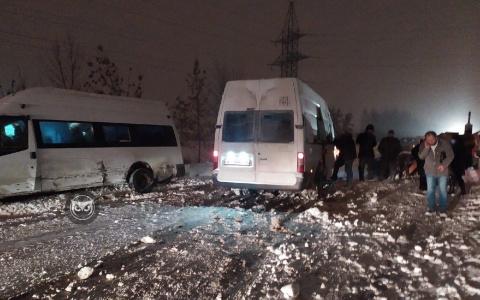 В пензенской Заре произошла авария с двумя микроавтобусами