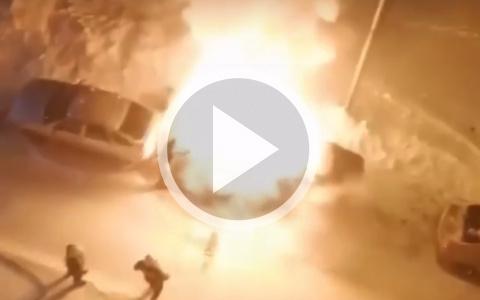 Появились кадры с места сильного пожара в Пензенской области