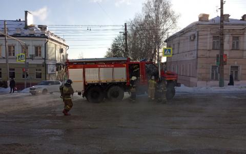 Появились фото с места пожара в пензенском госпитале