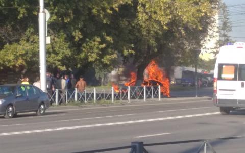 В МЧС рассказали подробности пожара рядом с автовокзалом в Пензе