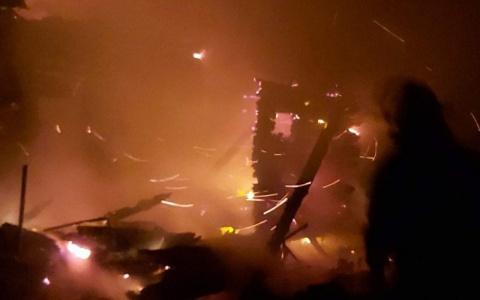 В Пензенской области при пожаре обгорел мужчина