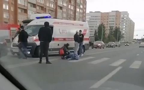 Появилось видео со сбитой на пешеходном переходе девушкой в Пензе