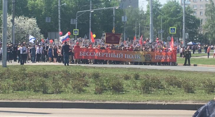 """В Пензе закончил свое шествие 50-тысячный """"Бессмертный полк"""""""