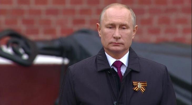 Президент прервал самоизоляцию, чтобы поздравить россиян с Днем Победы