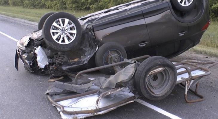 В пензенском регионе в аварии погибли водитель и пассажир мотоблока
