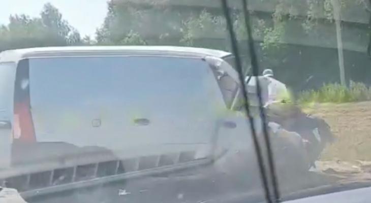«Лобовое – вдребезги!» На видео попала авария под Пензой
