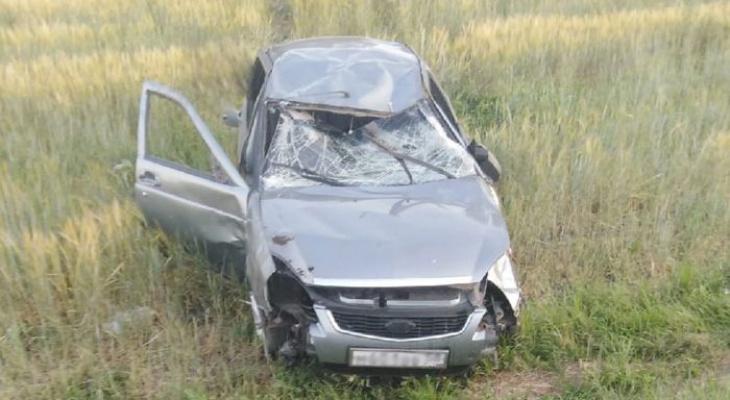 На трассе под Пензой произошла авария с «перевертышем»