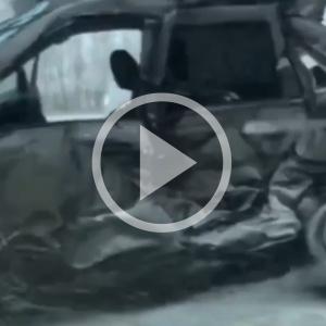Появились жуткие кадры с места смертельной аварии в Пензенской области