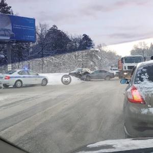 «Дорога стоит»: в Пензе жестко столкнулись две машины
