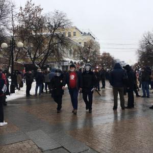 «Свободу Навальному» и «Беспредел»: что кричат пензенцы на шествии 23 января