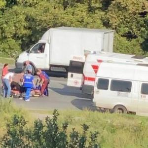 В Пензе на улице Аустрина 22-летний водитель «Лады» сбил мотоциклиста
