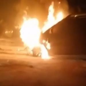 Появилось фото с места, где в Пензе горела машина